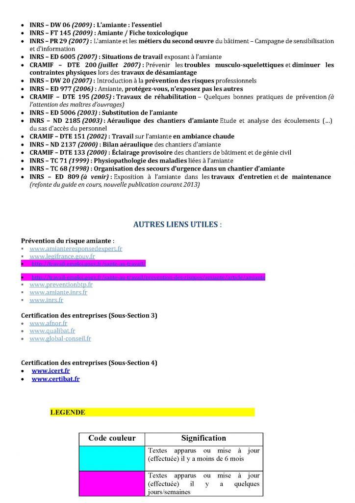 liste des textes réglementaires amiante juillet 2016